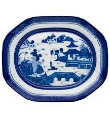 canton porcelain hc93a large platter blue canton vista alegre
