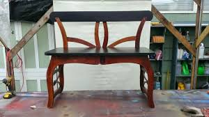 Upside Down Bench Gregs Repurpose U0026 Upcycle Upcycled Chairs Make A Great Bench