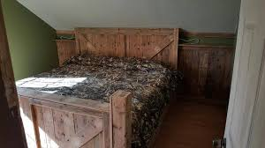 Headboards Made With Pallets King Size Pallet Bed With Headboard U0026 Footboard 101 Pallet Ideas