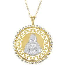 sacred heart jewelry 18k gold plated sacred heart jesus medal catholic pendant