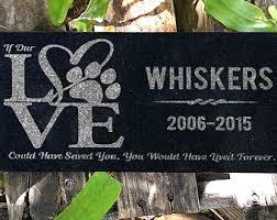 pet headstones pet headstone etsy
