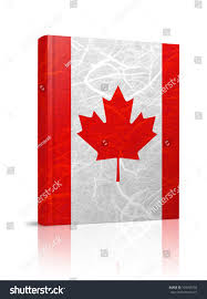 Flag Book Canada Flag Book Mulberry Paper On Stock Illustration 109306703