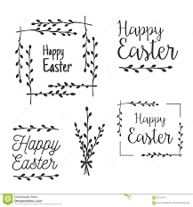 happy easter templates labels borders stock vector image 65724157