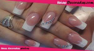 imagenes de uñas acrilicas con pedreria los mejores diseños de uñas decoradas con piedras