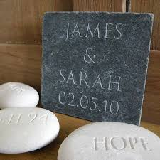 wedding gifts engraved personalised wedding gift slate by letterfest engraving