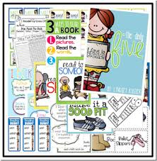 the daily five printables organizing daily 5 literacy stations in kindergarten and a