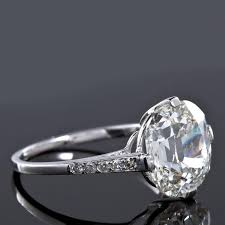 art deco old cushion cut 5 01 carat diamond engagement ring gia