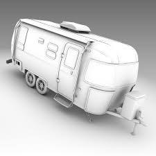 3d model airstream flying cloud trailer 2017 cgtrader