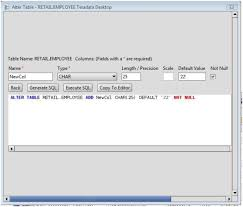 Alter Table Change Data Type Sql Server Teradata Add Column To Teradata Database Tables Via The Alter