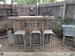 Patio Furniture Made Out Of Wooden Pallets by Rustic Bar Made Out Of Old Fencing Surrounded By Vintage Items