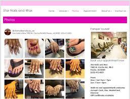 website for nail salon jennifer pham awesomeweb