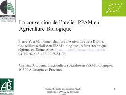 chambre agriculture drome journée technico économique ppam biologiques paca 12 décembre ppt
