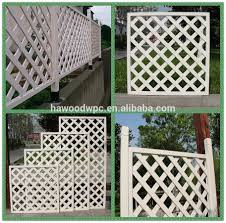 outdoor white pvc garden trellis screen buy pvc garden trellis
