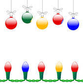 Stock Illustration Of Whimsical Hanging Christmas Ornaments