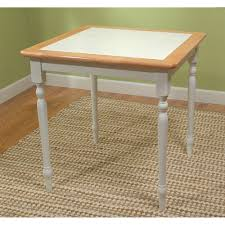 Piece Tile Top Dining Set WhiteNatural Walmartcom - Tile top kitchen table and chairs