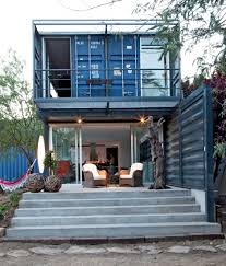 shipping container house in el tiemblo porch amys office