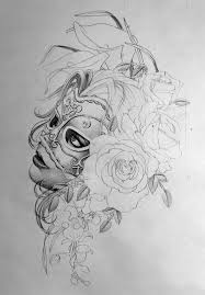 woman face drawing tattoo design drawing of sketch