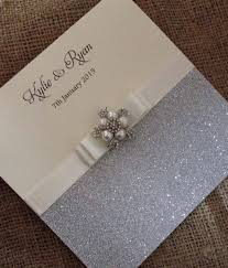 glitzy pearl wedding invitation by chosen touches wedding stationery