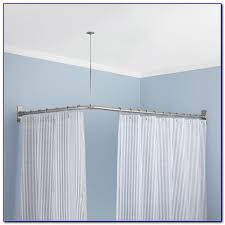 Room Divider Rod by Ceiling Curtain Rod Room Divider Curtain Home Design Ideas