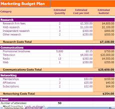 templates for business budgets sle marketing budget marketing budget planning excel template