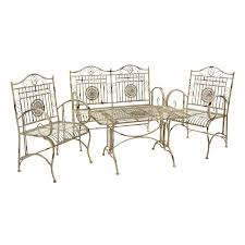 Lowes Wrought Iron Patio Furniture - shop oriental furniture 4 piece wrought iron patio conversation