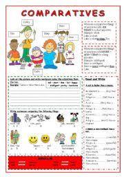 worksheet comparative adjectives