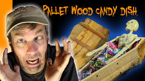 scary halloween candy bowl make a coffin candy dish with pallet wood with bonus scary story