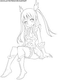 terrific wendy fairy tail chibi coloring pages fairy tail