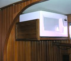 wall mounted wooden microwave shelf