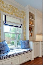 built in window seat in the kitchen love the clarence house wall