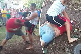 Youtube Backyard Fights Big Ryan U0027 Winner Of 50 Bar Fights Ko U0027d By Kickboxer In 18