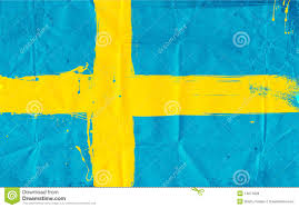 swedish flag daubed with paint royalty free stock photos image