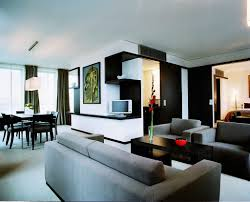 modern high tech trendy looking executive room at the hotel