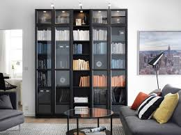 Particle Board Bookcase Storage Gray Wooden Living Room Bookcase Particleboard Top Panel