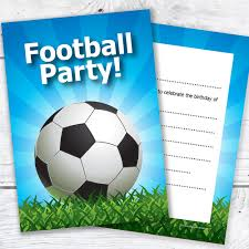 a6 invitation envelopes kids football party invites kids birthday invitations a6
