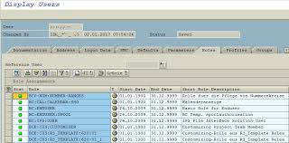 sap t code description table list sap user roles assignments in abap code