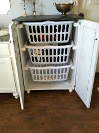 Hampton Bay Laundry Hamper by Linen Cabinet With Pull Out Hamper Best Home Furniture Decoration