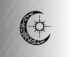 sun and moon decal etsy
