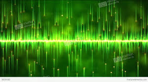 abstract falling and lights animation loop green stock