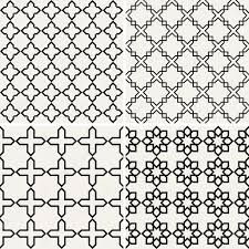 abstract modern backgrounds set geometric seamless patterns islam