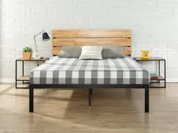 Wall Tent Platform Design by Zinus Sonoma Metal Wood Platform Bed U0026 Reviews Wayfair