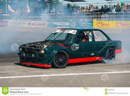 bmw drift cars drift car brand bmw without hood overcomes the track editorial