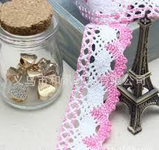 lace ribbon wholesale wholesale 4cm lace ribbon pink lace cotton trim torchon crochet