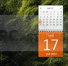 ordinateur bureau windows 7 afficher un calendrier complet sur le bureau windows 7