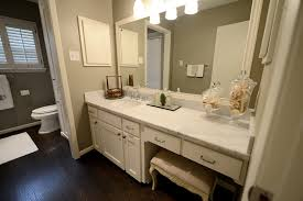 Beveled Bathroom Vanity Mirror Cote De Pretty Built In Ivory Bathroom Vanity With Carrara