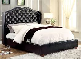 Black Platform Bed Queen Monroe Black Platform Bed Cm7016