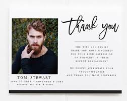 funeral card template funeral thank you etsy