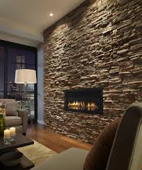 fireplace stone veneer family room traditional with wood floor