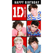 one direction cards official one direction birthday card with w o sound message for