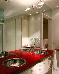sensational red bathrooms